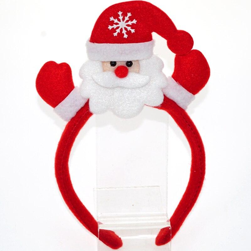 60 uds. Cinta de pelo luminosa de Navidad Santa Claus muñeco de nieve ciervo oso diadema accesorios de fiesta suministros de decoración de Navidad - 3