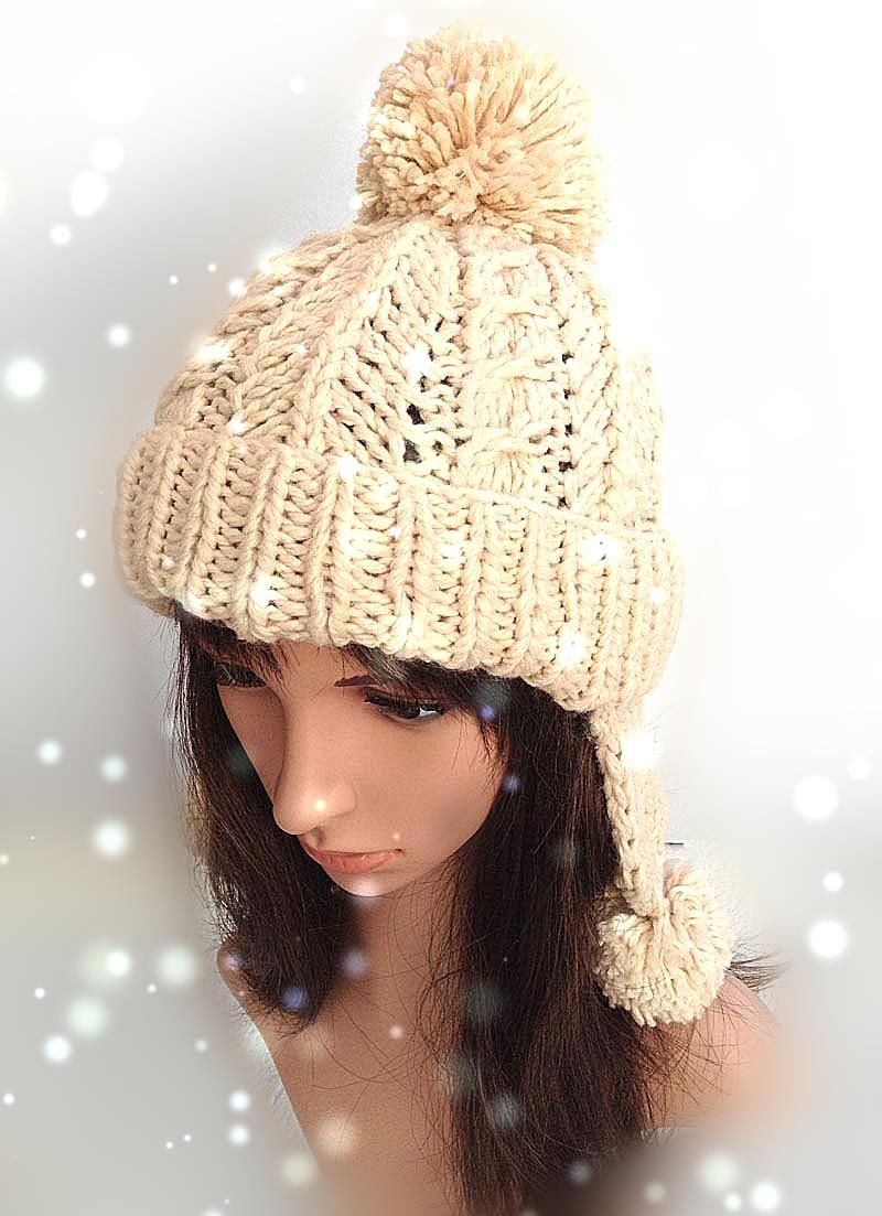 bomhcs cute women s fashion autumn winter warm crochet beanie handmade ear muff knitted hat cap with letters BomHCS Fashion Women Winter Warm Ear Muff Knitted Beanie 100% Handmade Soft Crochet Hat Cap Lei Feng Cap