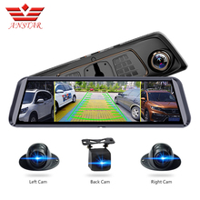 ANSTAR 10Screen ADAS Car DVR With 4 Cameras 4G FHD1080P Media Rearview Mirror 360 Degree Blind Zone Recorder Dash Cam