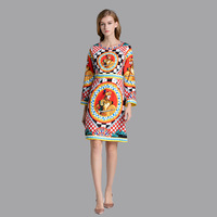 New 2019 spring runways flare sleeve vintage dress Chic elegant long sleeves pencil dress D853