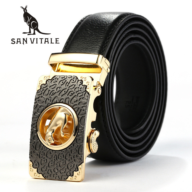 Belts   Mens   Belt   Genuine Leather Cowskin Ceinture For Jeans For Suit Top Quality Luxury Brand Ratchet Reversible Buckle 2018 New
