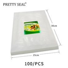 PRETTYSESAL Vacuum Sealer Vacuum bags For Food Storage With Pump Reusable Food Packages 25*30 100pcs emballage alimentaire(China)