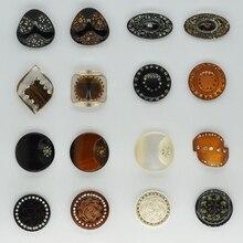 Ремесло кнопки большие, ручной работы декоративные стразы из смолы кнопки, для пришивания пуговиц Для Аксессуары Меховые пальто