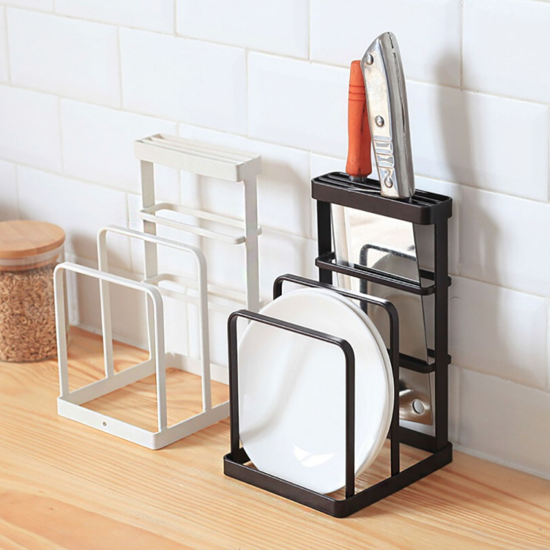 Creative Cutlery Display Rack Iron Kitchen Knives Drain Rack Portable Home Garden Kitchen Dining Supplies AB