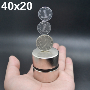 Image 3 - 2pcs Magnete Al Neodimio N52 40x20mm Super Strong Rotonda terra Rara di NdFeB Potente Gallio metallo altoparlante magnetico n35 40*20 millimetri Disco