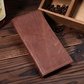 Men's Genuine Leather Long Bifold Wallet Large Capacity Card Case Checkbook
