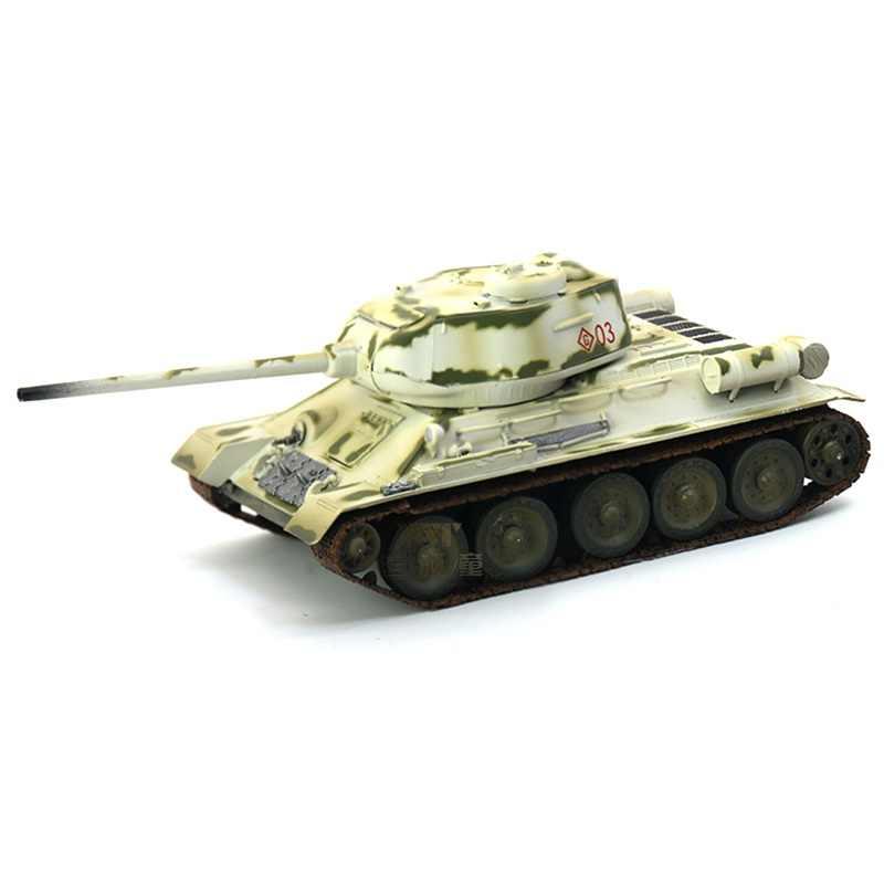 pre built 1/72 scale T 34 tank Soviet T 34 85 World War II