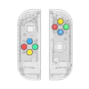 Image 3 - نينتندو سويتش Joy Con تحكم مقبض استبدال شل ل 4 اللون مفاتيح اليسار واليمين أزواج ABXY الاتجاهات مفاتيح أزرار