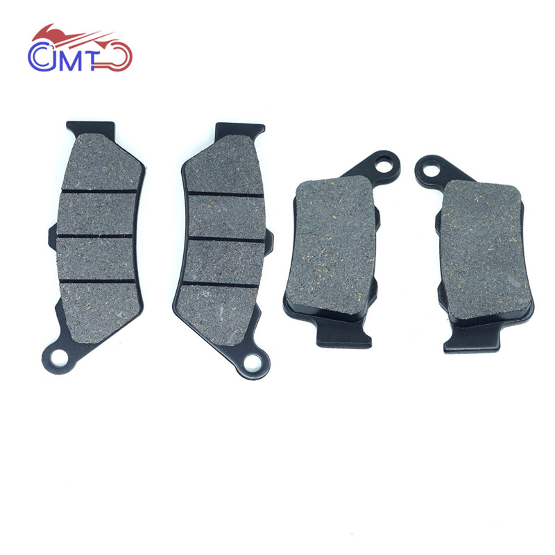 For Honda Dominator NX650 CB500S 1997-1998 SLR650V 1996-1997 <font><b>Yamaha</b></font> XT660R 2004-2016 Front Rear Brake Pads Set Kit image