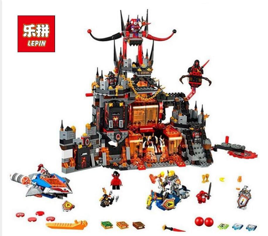 1237Pcs 10521 Nexus Knights Chevaliers Axl Jestros Volcano Lair Combinaison Marvel Model Building Block Compatible 70323