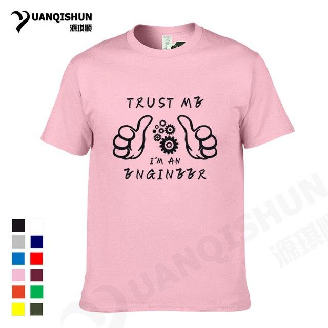 7ae1afef YUANQISHUN Casual Custom New TRUST ME I AM AN ENGINEER T Shirt Thumbs Up  Pattern Tshirt Letter Print Cotton T-shirt Humor Tee