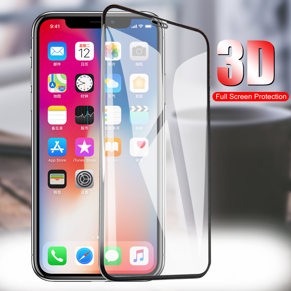 Full Cover 9H Tempered Glass for iPhone X Xs Screen