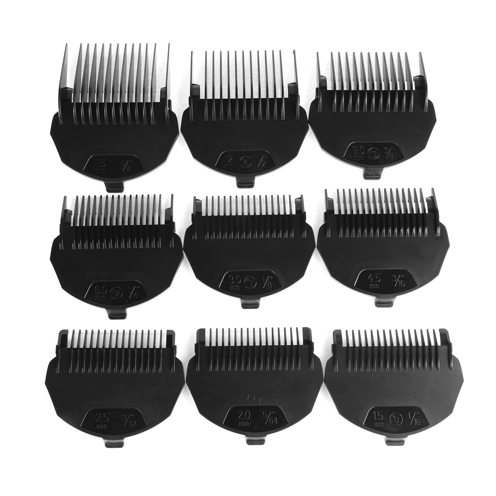 KEMEI Professional Electric Shaver Hair Clipper Haircut Beard Trimmer with 9 Trimming Combs Hair Cutting Machine For Men Baby 3