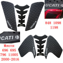 For Ducati Monster 696 695 796 1100S 2010-2013 2014 2015 2016 848 1098 1198 Protector Anti slip Tank Pad Sticker Gas 3M Decal