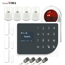 SmartYIBA APP Home Burglar Security Protection Alarm System Alarm Panel Remote Control Door Open/Close Alarm Loudly Strobe Siren