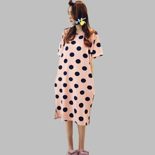 New Women Sleepwear Summer Sleepshirt Night Dress Long Cotton Nightgowns Indoor Clothing Girls Nightshirt chemise de nuit