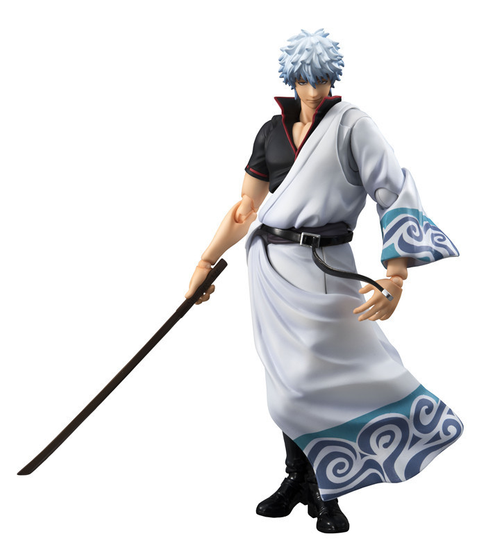 Anime MegaHouse Variable Action Heroes GINTAMA Silver Soul Sakata Gintoki PVC Action Figure Collectible Model Toys Doll 18cm