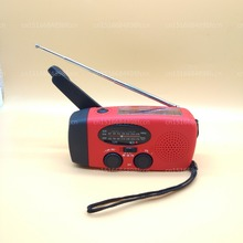 Аварийное солнечное ручное питание ed AM/FM/NOAA погодное радио, светодиодный фонарик, зарядное устройство для смартфона с кабелями