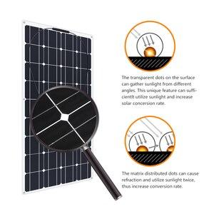 Image 3 - 4PCS 6pcs 8pcs 10pcs Flexible solar Panel 100W Monocrystalline Cell 12V 24 Volt 100 Watt placa portatil powerbank 400w 600w 800w