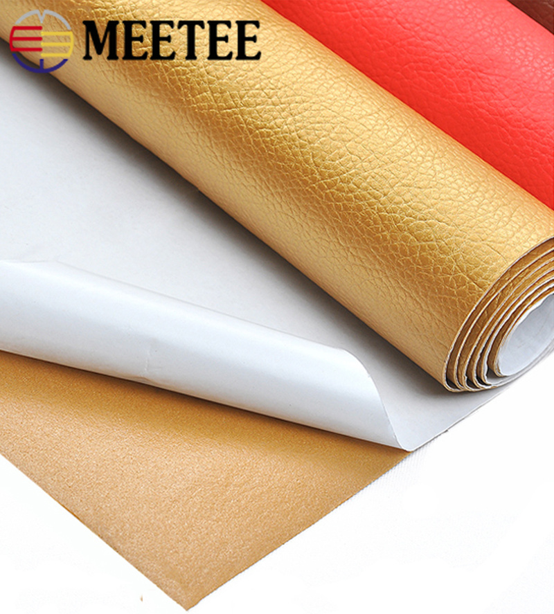 Image 2 - 50*135cm Faux Leather Fabric Solid Color Suede Synthetic Self adhesive Leather Fabric Patching Simulation Leather Adhesive PatchSynthetic Leather   -