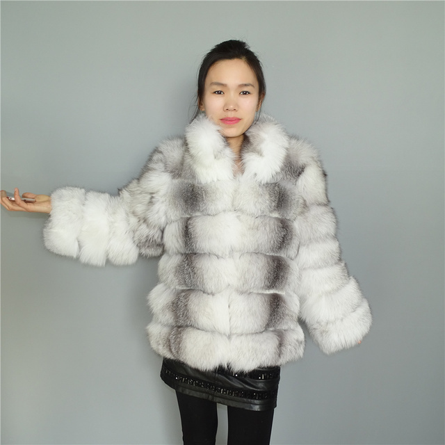 ddde73da37 60cm Russian Sable Fur/White Cross Fox Fur Plus Size Real Fox Long Coat  Plus Size Fur Coats Women Outwear Stand Up Collar Shawl