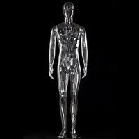 High Level Good Quality ABS Transparent Men Mannequin Full Body Mannequin Fashion Best Value For Clothes Display