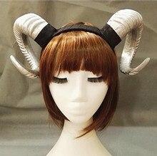 ФОТО handmade sheep horn headband hairband accessory demon evil gothic lolita cosplay halloween headwear prop
