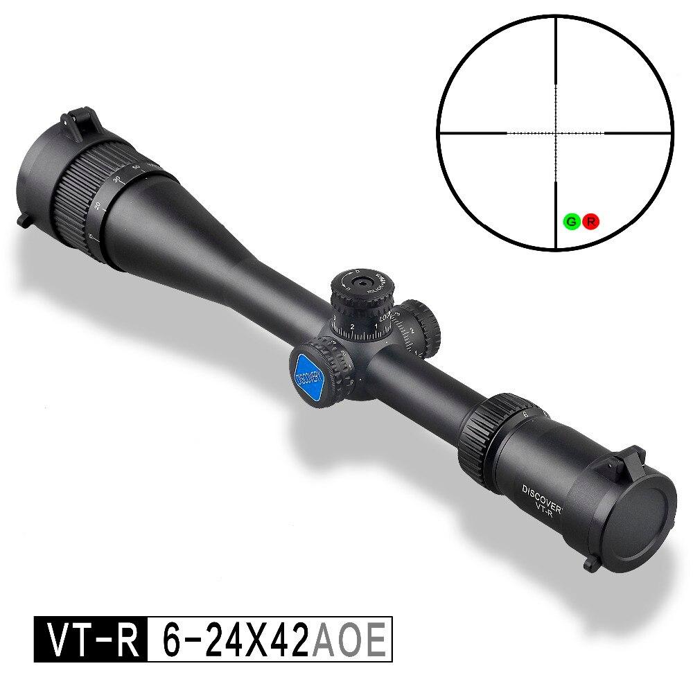 Descoberta mira óptica VT-R 6-24X42 HMD SFP IR-MIL Tiro de Longo Alcance Caça Riflescope AOE âmbito colimador