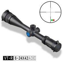Discovery optical sight VT-R 6-24X42 AOE HMD SFP IR-MIL Long Range Shooting Hunting Riflescope collimator scope
