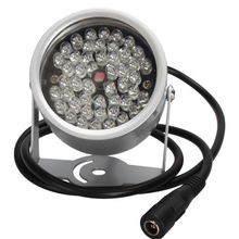RIWYTH 48 IR LED Infrared Illuminator Light IR Night Vision enhancement for CCTV Security Cameras Fill Lighting metal gray Dome
