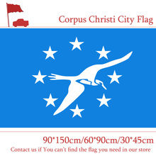 Free shipping Corpus Christi City Flag 60*90cm 90*150cm 3x5ft Custom High-quality 30*45cm Car American