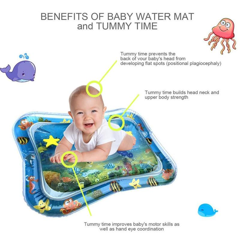 Inflatable Baby Playmats Water Mat Infant Tummy Time Playmat Toddler Activity Intelligent Play Center For Sensory Stimulation