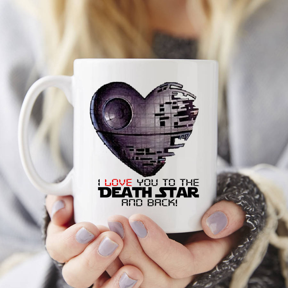 I love you to the Death Star and back star wars mugs Tea art milk wine