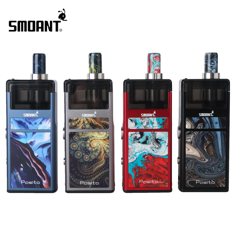 Original Smoant Pasito Kit Innovativelyrebuildablepodsystem with 3ML Atomizer 1100mAh Battery for MTL & DTL Vaping clocks and colours nomad