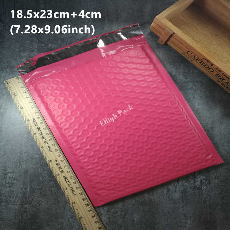 18*23cm (7.28*9.05inch) 50pcs/lot Usable space pink Poly bubble Mailer envelopes padded Mailing Bag Self Sealing