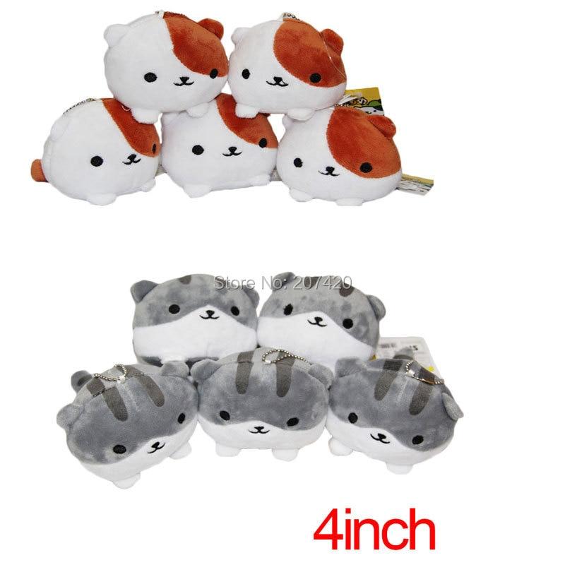 10 шт./pset 10 см аниме кошка дворе мягкого плюша игрушки куклы брелок