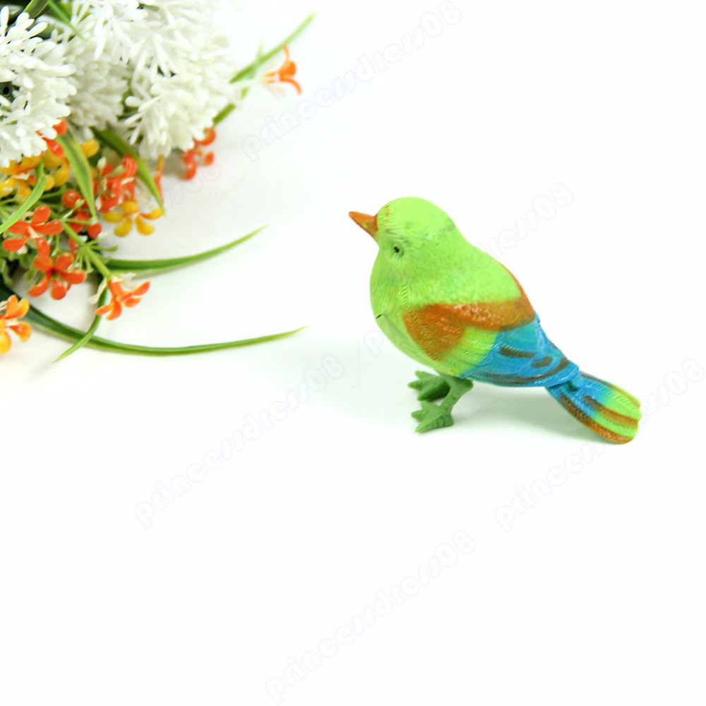 2pcs/lot New Funny Sound Voice Control Activate Toy Gift Chirping Singing Bird