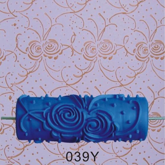 Decorazione domestica - rullo di pittura murale di gomma 3D da 5 - Set di attrezzi - Fotografia 2