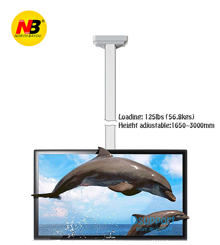 NB T7030 Full Rotating height Adjustable 1650-3000mm for 32-70 Ceiling TV Mount Bracket  ...