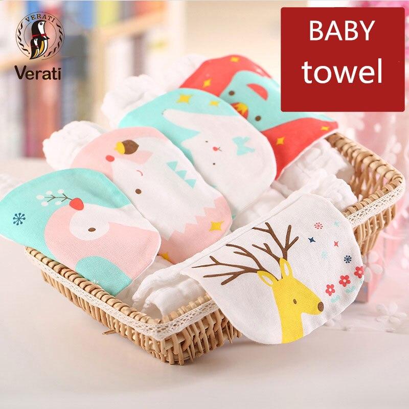 VERATI 1pc 100% algodón gasa toalla suave para los recién nacidos - Cuidando a un niño