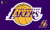 LA Lakers Flag Purple New 3x5ft 90x150cm 100D Polyester Flag Banner 1097 Free Shipping