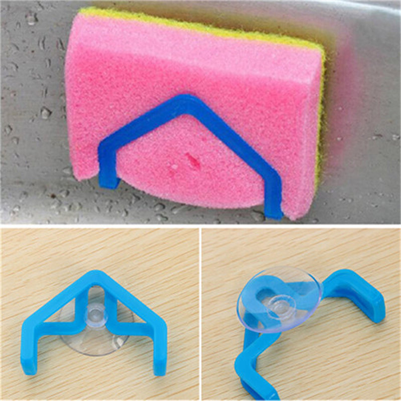 Creative Bathroom Shelf Sponge Clothes Storage Rack Suction Kitchen Clean Holder Clip Rag Hollow Drain Rack Soap Hanging Shelves