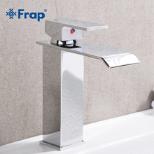 FRAP robinet de lavabo mitigeur de salle de bains, robinet en laiton monotrou, cascade de toilette mélangeur chaud et froid robinet carré Y10143