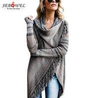 SEBOWEL 2018 Autumn Tmall Casual Long Sleeve Sweater Women Femme Tops Long Female Cardigan Knitted Sweater
