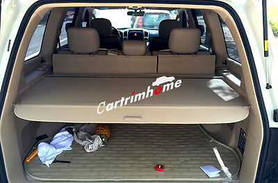 Beige Retractable Rear Cargo Trunk Cover for Toyota Land Cruiser LC200 2012 2016|Chromium Styling| |  - title=