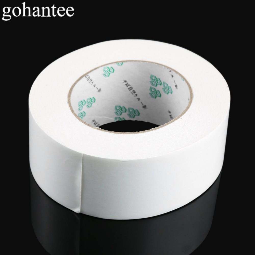 "gohantee Professional White Golf Grip Double Sided Adhesive Club Tape Strips 2.36""X50 Yds for Golf Regripping Accessories 1 Roll-in Club Grips from Sports & Entertainment"