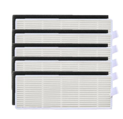 5x Hepa Filter & 5x Sponge Filters Replacement  For Ilife A4s A6 A4 A40 A8 Polaris PVCR 0726w Vacuum Cleaner Filter Accessories