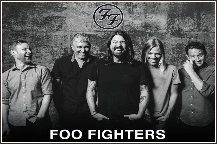 Custom Canvas Wall Decoration Dave Grohl Poster Foo Fighters Wall Stickers Rock Band FF Wallpaper Office Sticker Mural #2173# image