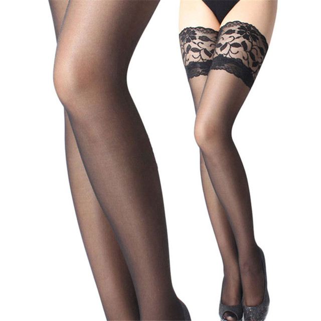 7c06677a3d62e Female sexy stocking hose women Thigh high stockings appeal to fix the leg  show thin lace