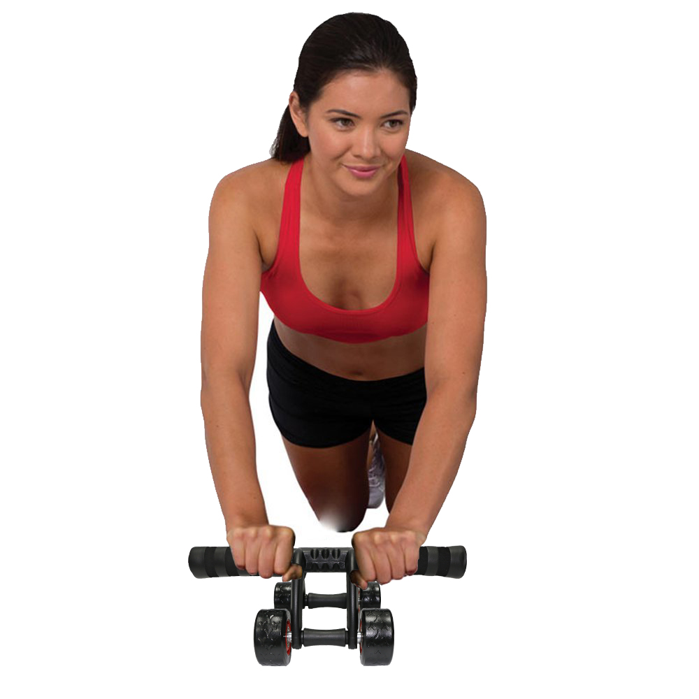 4 Wheels Abdominal Roller with Non Skid Wheels for Better Balance in Workout to Reduce Belly Fat 5